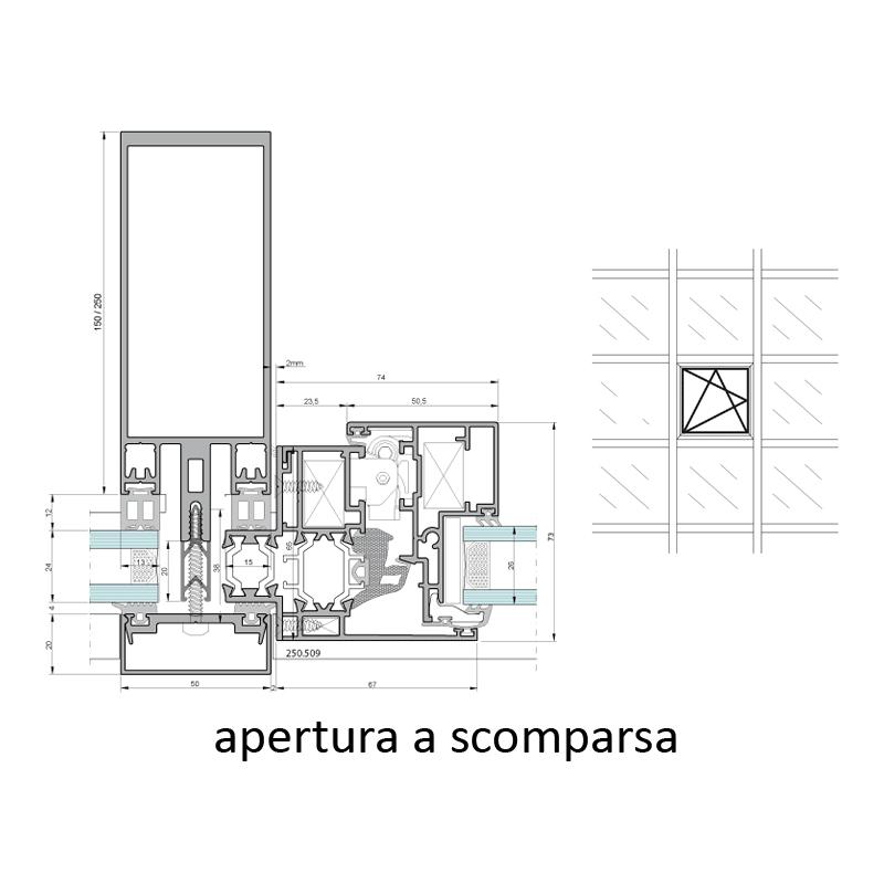 vetral roma immagine profilo sezione apertura a scomparsa