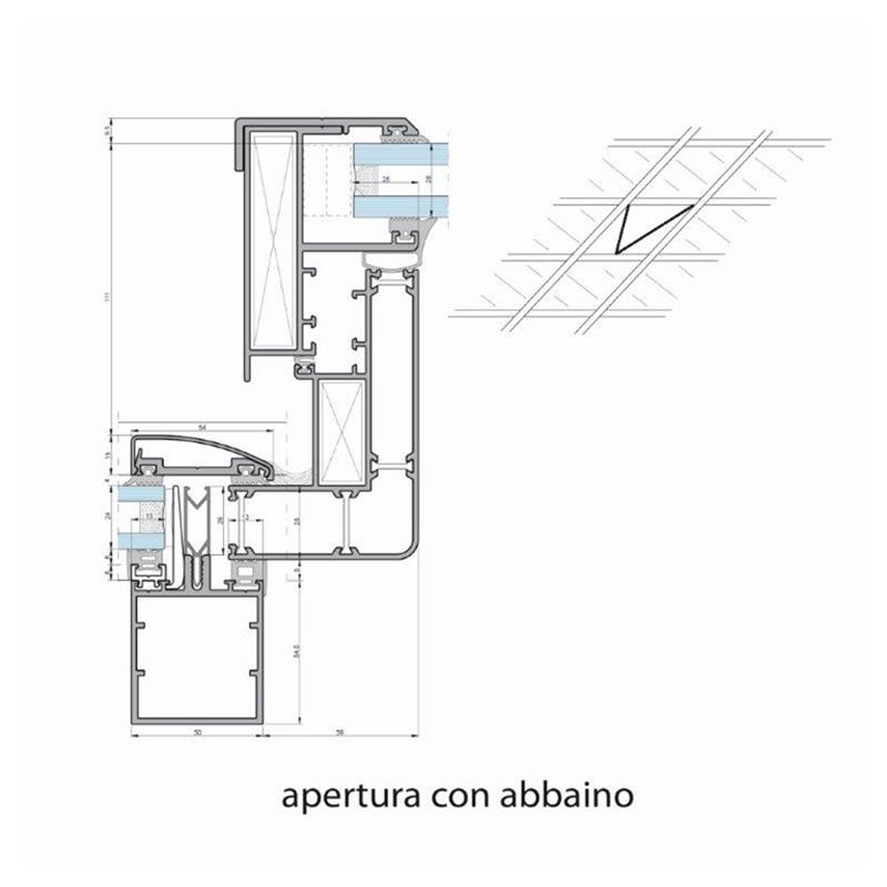 vetral roma immagine profilo sezione apertura con abbaino