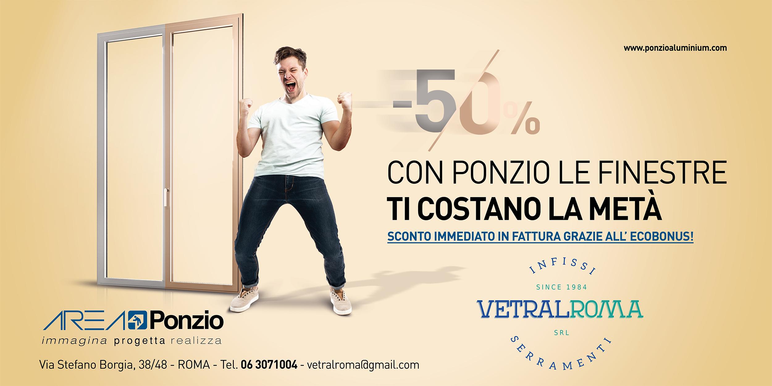 Vetral Roma Area Ponzio Bonus 50% 2020